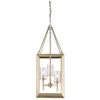 Golden Lighting 2073-3P-WG-CLR Smyth 3 Light 12 inch White Gold Pendant Ceiling Light in Clear Glass