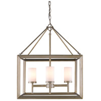 Smyth 4 Light 21 inch White Gold Chandelier Ceiling Light in Opal Glass