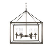 Golden Lighting Smyth 6 Light Chandelier in Gunmetal Bronze with Clear Glass 2073-6-GMT