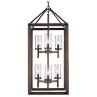 Smyth 6 Light 16 inch Gunmetal Bronze Pendant Ceiling Light in Clear Glass