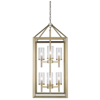 Smyth 6 Light 16 inch White Gold Pendant Ceiling Light in Clear Glass