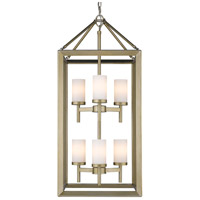 Smyth 6 Light 16 inch White Gold Pendant Ceiling Light in Opal Glass