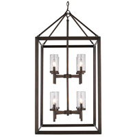 Smyth 8 Light 21 inch Gunmetal Bronze Pendant Ceiling Light in Clear Glass