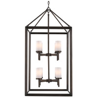 Smyth 8 Light 21 inch Gunmetal Bronze Pendant Ceiling Light in Opal Glass