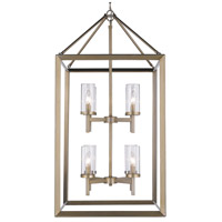 Smyth 8 Light 21 inch White Gold Pendant Ceiling Light in Clear Glass