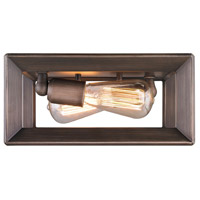 Golden Lighting Smyth 2 Light Flush Mount in Gunmetal Bronze 2073-FM-GMT