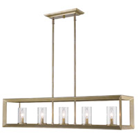 Golden Lighting Smyth 5 Light Linear Pendant in White Gold 2073-LP-WG-CLR