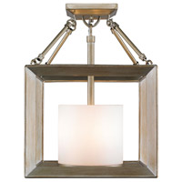 Smyth 3 Light 12 inch White Gold Semi-Flush Ceiling Light in Opal Glass, Convertible