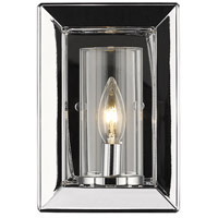Golden Lighting 2074-1W-CH-CLR Smyth 1 Light 6 inch Chrome Wall Sconce Wall Light in Clear Glass
