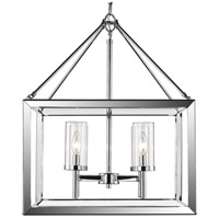Smyth 4 Light 21 inch Chrome Chandelier Ceiling Light in Clear Glass