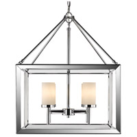 Smyth 4 Light 21 inch Chrome Chandelier Ceiling Light in Opal Glass