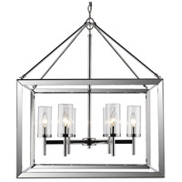 Smyth 6 Light 27 inch Chrome Chandelier Ceiling Light in Clear Glass
