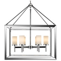 Smyth 6 Light 27 inch Chrome Chandelier Ceiling Light in Opal Glass