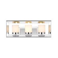 Golden Lighting 2074-BA3-CH Smyth 3 Light 19 inch Chrome Bath Vanity Wall Light