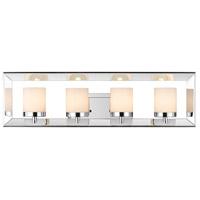 Golden Lighting 2074-BA4-CH Smyth 4 Light 25 inch Chrome Bath Vanity Wall Light