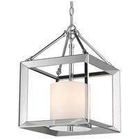 Golden Lighting 2074-M3-CH-OP Smyth 3 Light 12 inch Chrome Pendant Ceiling Light Convertible to Semi-Flush