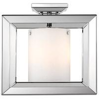 Golden Lighting 2074-SF12-CH-OP Smyth 3 Light 12 inch Chrome Semi Flush Mount Ceiling Light Low Profile