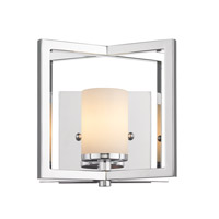 Golden Lighting Baxley 1 Light Wall Sconce in Chrome 2081-1W-CH