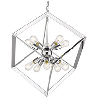 Golden Lighting 2083-10P-CH Architect 10 Light 25 inch Chrome Foyer Pendant Ceiling Light