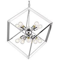 Golden Lighting 2083-10P-CH Architect 10 Light 25 inch Chrome Foyer Pendant Ceiling Light
