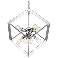 Golden Lighting 2083-8P-CH Architect 8 Light 21 inch Chrome Foyer Pendant Ceiling Light