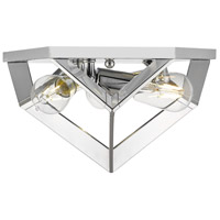 Golden Lighting 2083-FM-CH Architect 3 Light 13 inch Chrome Flush Mount Ceiling Light