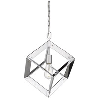 Golden Lighting 2083-M1L-CH Architect 1 Light 12 inch Chrome Mini Pendant Ceiling Light
