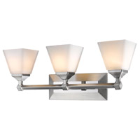 Gentry 3 Light 24 inch Pewter Bath Vanity Wall Light
