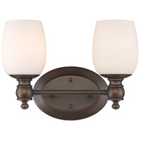 Constance 2 Light 14 inch Rubbed Bronze Bath Vanity Wall Light
