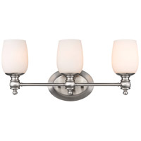 Constance 3 Light 22 inch Pewter Bath Vanity Wall Light