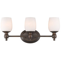 Constance 3 Light 22 inch Rubbed Bronze Bath Vanity Wall Light