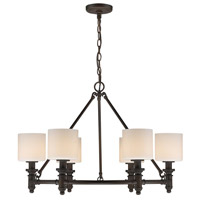 Golden Lighting 2116-6 RBZ-OP Beckford 6 Light 28 inch Rubbed Bronze Chandelier Ceiling Light