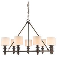 Golden Lighting 2116-9-RBZ-OP Beckford 9 Light 36 inch Rubbed Bronze Chandelier Ceiling Light