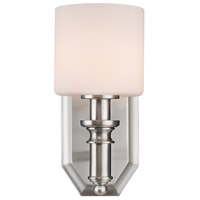 Golden Lighting 2116-BA1-PW-OP Beckford PW 1 Light 5 inch Pewter Bath Fixture Wall Light