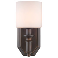 Golden Lighting Beckford 1 Light Bath Vanity in Rubbed Bronze 2116-BA1-RBZ-OP