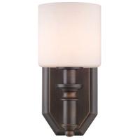 Golden Lighting 2116-BA1-RBZ-OP Beckford 1 Light 5 inch Rubbed Bronze Bath Vanity Wall Light