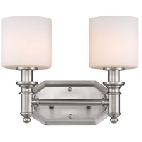 Beckford 2 Light 13 inch Pewter Bath Vanity Wall Light