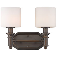 Beckford 2 Light 13 inch Rubbed Bronze Bath Vanity Wall Light