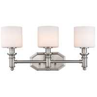 Golden Lighting 2116-BA3-PW-OP Beckford 3 Light 22 inch Pewter Bath Vanity Wall Light