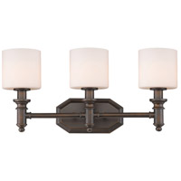 Beckford 3 Light 22 inch Rubbed Bronze Bath Vanity Wall Light
