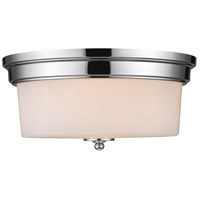Golden Lighting Multi-Family 3 Light Flush Mount in Chrome 2118-FM-CH-OP