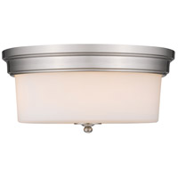 Golden Lighting Multi-Family 3 Light Flush Mount in Pewter 2118-FM-PW-OP