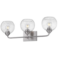 Golden Lighting 2120-BA3-PW-GLOBE-SD Ormond 3 Light 28 inch Pewter Bath Fixture Wall Light in Seeded Glass