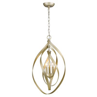 Nicolette 3 Light 15 inch White Gold Pendant Ceiling Light