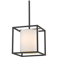 Golden Lighting 2243-M1L-BLK-MWS Manhattan 1 Light 9 inch Matte Black Mini Pendant Ceiling Light Convertible
