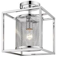 Golden Lighting 2245-1SF-CH-CH London 1 Light 9 inch Chrome Semi-Flushmount Ceiling Light Convertible to Pendant