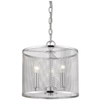Golden Lighting 2245-3P-CH London 3 Light 11 inch Chrome Pendant Ceiling Light Convertible