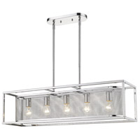 Golden Lighting 2245-5SF-CH-CH London 5 Light 36 inch Chrome Semi-Flushmount Ceiling Light Convertible