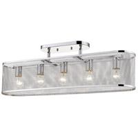 Golden Lighting 2245-5SF-CH London 5 Light 36 inch Chrome Semi-Flushmount Ceiling Light Convertible