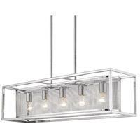 Golden Lighting 2245-LP-CH-CH London 5 Light 36 inch Chrome Linear Pendant Ceiling Light Convertible